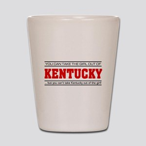 'Girl From Kentucky' Shot Glass