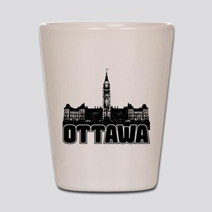 Ottawa Skyline Shot Glass