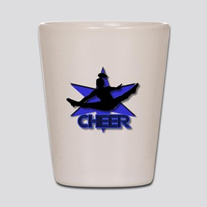 Cheerleader in blue Shot Glass