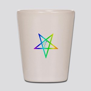 Female male transgender inverted pentagram Shot Gl