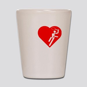 I-Heart-Tennis-3-darks Shot Glass