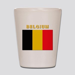Flag Of Belgium W Txt Shot Glass