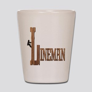 Lineman Wood Shot Glass