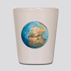 Pangea supercontinent, artwork Shot Glass