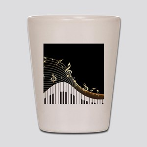 Ivory Keys Piano Music Shot Glass