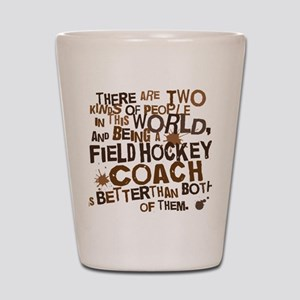 fieldhockeycoachbrown Shot Glass