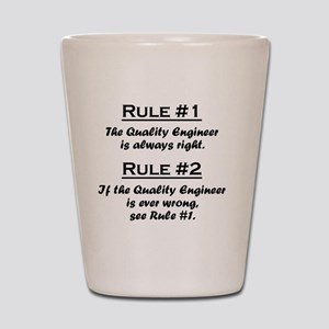 Rule Quality Engineer Shot Glass