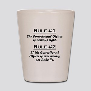 Rule Correctional Officer Shot Glass
