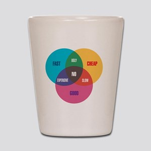 work-venn-diagram Shot Glass