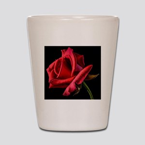 Red Rose Sideways Shot Glass