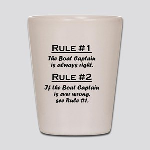 Rule Boat Captain Shot Glass