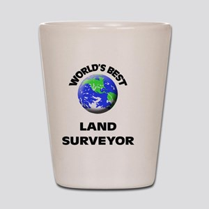 World's Best Land Surveyor Shot Glass