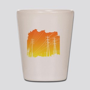 All Over Powerlines design Shot Glass