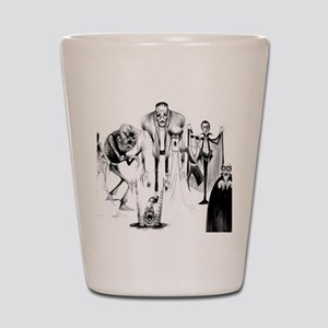 Classic movie monsters Shot Glass