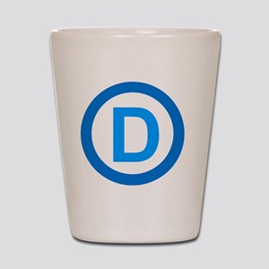 Democratic D Design Shot Glass