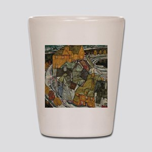Island Town by Egon Schiele Shot Glass