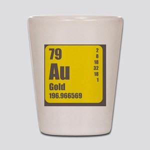 Periodic Table Of Element's Au GOLD Shot Glass