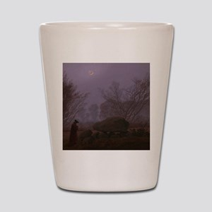 Caspar David Friedrich - A Walk at Dusk Shot Glass