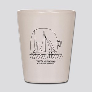 Sailing Cartoon 0352 Shot Glass