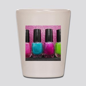 Bright Nail Polish Shot Glass