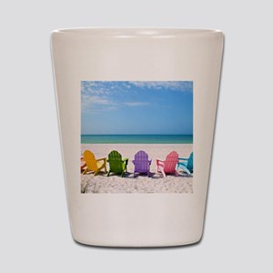 Summer Beach Shot Glass