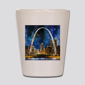 Spacey St. Louis Skyline Shot Glass