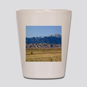 Great Sand Dunes Colorado with Sangre d Shot Glass