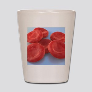Red blood cells, artwork Shot Glass