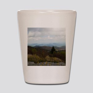 North Carolina Mountain Range Shot Glass