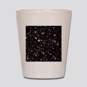 black starry night Shot Glass
