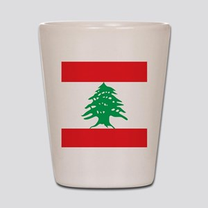Flag of Lebanon Shot Glass