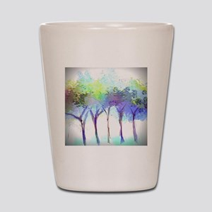 With the Trees Landscape Shot Glass
