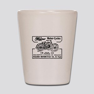Retro Motorcycle Ad Shot Glass