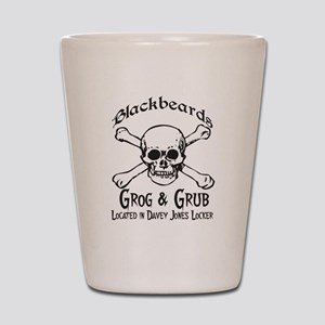 Blackbeards grog and grub Shot Glass