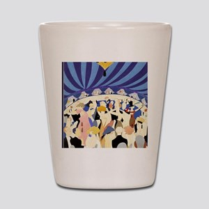 Dancing couples vintage poster 1921 Shot Glass