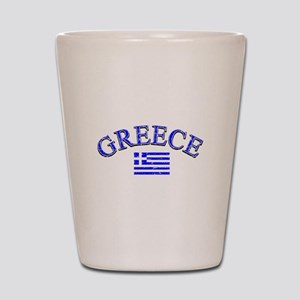 Greece Soccer Designs Shot Glass