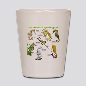 Seahorses Seadragons Shot Glass