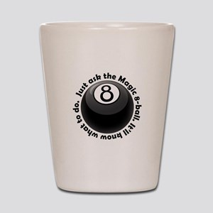 magic-8-ball-black-tshirt-front Shot Glass