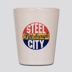 Pittsburgh Vintage Label B Shot Glass