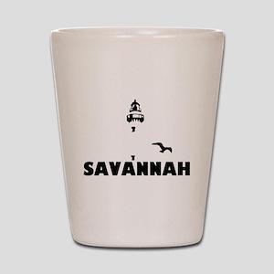 5034abe8b151 Savannah Beach GA - Lighthouse Design. Shot Glass
