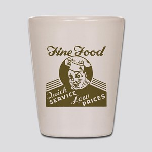Retro Fine Food Shot Glass