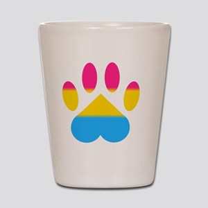 Pansexual Pride Paw Shot Glass