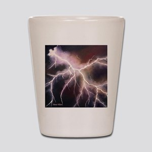 lightning throw pillow Shot Glass