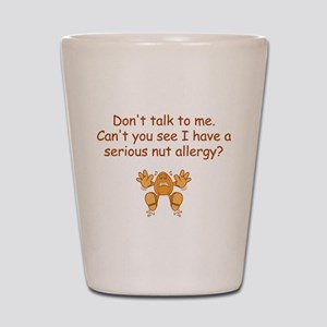 Nut Allergy Shot Glass