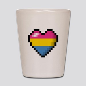 Pansexual Pixel Heart Shot Glass