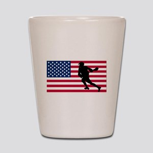 Lacrosse American Flag Shot Glass