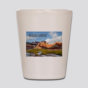 Mountains Sky in the Badlands National Shot Glass