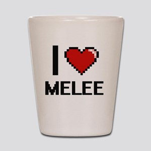 I Love Melee Shot Glass