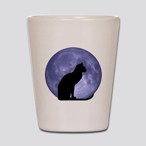 0e6924e48026 Black Cat In Blue Willow Bowl Shot Glasses - CafePress