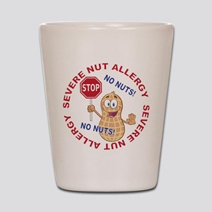 Severe Nut Allergy Shot Glass